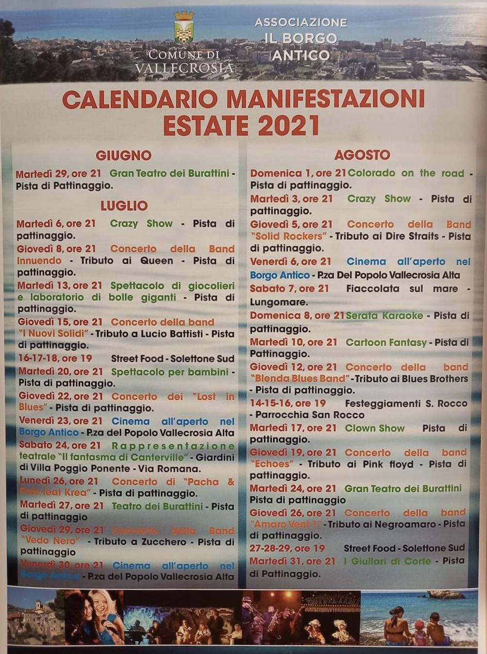 calendario eventi estate 2021
